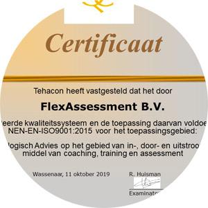 ISO9001 - certificaat FlexAssessment